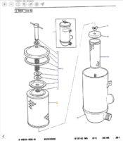 Filtre hydraulique 1810950M91
